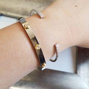 Henri Bendel Crystal Bangle Bracelet / Petite
